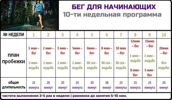 Программа бега для похудения для мужчин начинающих